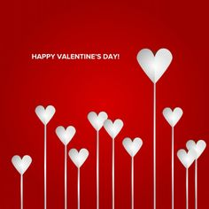 Valentines Day Heart Flowers on Red Background 780x780 Wallpapers & Cards. Happy Valentines Day, Sayings [30 Pics + 14 Quotes]