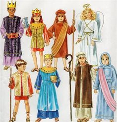 Quick and easy joseph costume shepherd costume nativity costumes simplicity 8153 childskids christmas nativity costume pattern solutioingenieria Images