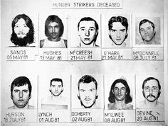 Oct 1981 the Hunger Strike of IRA Prisoners in the Maze Prison in Northern Ireland ended after 10 died. Old Irish, Irish Men, Bobby Sands, Northern Ireland Troubles, Irish Republican Army, Easter Rising, Hunger Strike, Old Cameras, Bird Silhouette