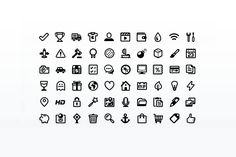 Check out Outline Style Pictogram Set by Web Icon Set on Creative Market