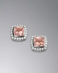 Petite Albion Earrings, Morganite, 7mm by David Yurman at Neiman Marcus. Mel, these are for you! lol