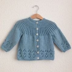 Baby Knitting Patterns Rosabel Knitted Baby Cardigan [FREE Knitting Pattern] More…. Knitting Baby Girl, Baby Cardigan Knitting Pattern Free, Baby Sweater Patterns, Knitted Baby Cardigan, Knit Baby Sweaters, Knitted Baby Clothes, Crochet Jacket, Cardigan Pattern, Girls Sweaters