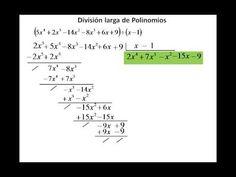 Division entre polinomios - YouTube