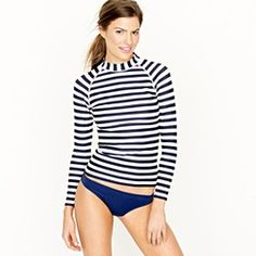 Get some protection from the sun in this rasher with trendy nautical stripes. #fashion #travel