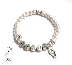 Brautschmuck armband  Armband Braut Hochzeit ivory Brautschmuck Perlen | Armband braut ...