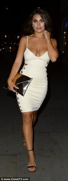 Katie Salmon and Chloe Khan flash the flesh for girls' night out
