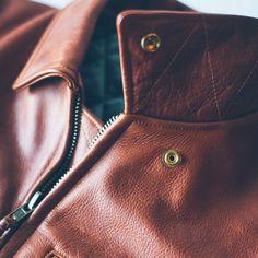 The Moto Jacket in Whiskey Steerhide - alternate view