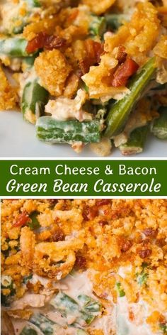 Cream Cheese & Bacon Green Bean Casserole