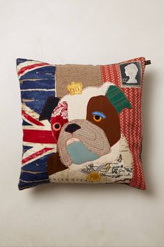 Love the concept but would need it in a Frenchie! Patchwork Hound Pillow - anthropologie.com