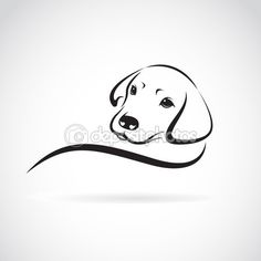 imagem vetorial de um cão labrador em fundo branco — Ilustração vetorial #78187190