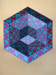 Victor Vasarely > Sancton // argh my eyes hurt