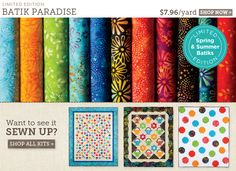 cool quilting website - fabric, kits, books, patterns, etc