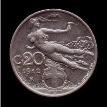 New Listing Started 1912 R Italy 20 Centesimi - Used XF Coin ID: 3390 $6.00