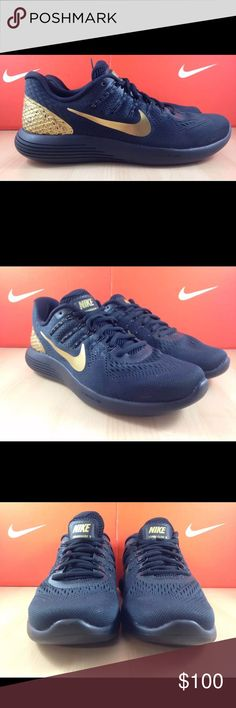 Nike Lunarglide Men's Size 9.5 Black and Gold New Selling a pair of authentic Nike Lunarglide shoes. Shows have never been worn, and come with the original box. Men's size 9.5. This black and gold color is hard to find. My loss is your gain! Nike Shoes Sneakers