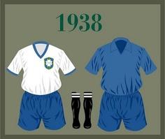 Uniforme da Seleção Brasileira de futebol de 1938 #copadomundo #Brazil2014 #copade2014 #