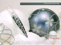 Nailart Airbrush Nails XMas Winter Inspirationen