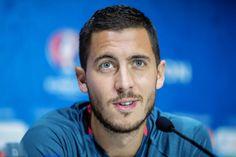 """cahills: """"""""Eden Hazard of Belgium talks to the media during the Belgium press conference on June 12, 2016 in Decines-Charpieu, France. """" """""""