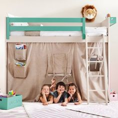 Liso Loft Bed with Teepee Cover #Bed, #Fun, #Kids
