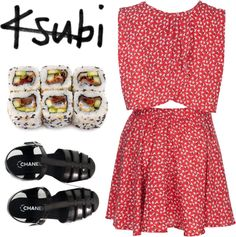 """""""sushi"""" by liquidmoon ❤ liked on Polyvore"""