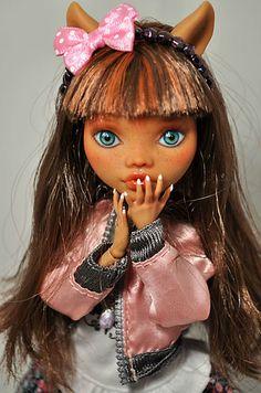 OOAK Custom Monster High Doll Odette 62 by Nekomuchuu Cute Repaint Clawdeen | eBay