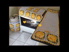 Flor de Gomo #Capa de fogão - YouTube Crochet Decoration, Crochet Kitchen, Vintage Crochet, Crochet Designs, Crochet Flowers, Projects To Try, Decorative Boxes, Blanket, Home Decor