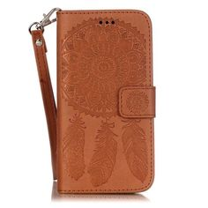 Shop4 - iPhone 6s Plus Hoesje - Wallet Case Dromenvanger Bruin | Shop4Hoesjes