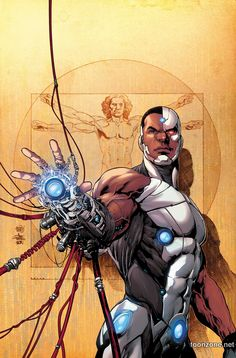 Don't call me cyberpunk; I ain't no punk! Originally a New Teen Titan, Cyborg gets an upgrade for his new solo series. He plays with bigger toys in a bigger boat with the JLA, but his white noise blaster does more than confuse rednecks.