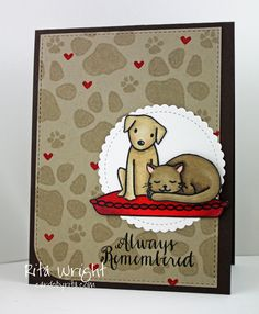Cards by Rita: Pet Sympathy in Browns