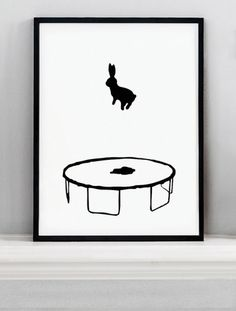 HAM Prints - Bouncing Rabbit Screen Print http://www.pinterest.com/lteo/love-illustrations/