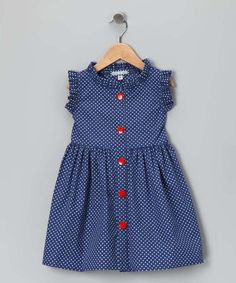 Any little fairy princess will flutter in this polka dot picnic dress. With super-soft material, resplendent ruffles and an easy button-up silhouette, this piece simply soars. Frocks For Girls, Little Dresses, Little Girl Dresses, Dresses Dresses, Dresses For Girls, Baby Dresses, Dance Dresses, Fashion Dresses, Baby Frocks Designs