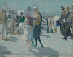 Dom P.L.C.  | Elegant figures on the boulevard at Scheveningen, oil on canvas 40.0 x 50.0 cm., signed l.l. and dated 1920