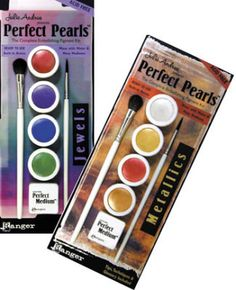 Ranger perfect pearls, powder, can be used on glass