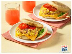 Ham and Egg Breakfast Sandwich from www.MapleLeaf.com Ham And Eggs, Easy Food To Make, Morning Food, Deli, Sandwiches, Fresh, Breakfast, Ethnic Recipes, Morning Coffee