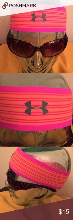 🆕 Under Armour Headband Authentic Under Armour Headband. Unisex. Non-Slip Headband Built for Athletes. Bright Orange & Pink Stripes with Silvery Grey UA Logo on the Front Center. 70% Nylon/30% Elastane. Brand New in Original Packaging. Excellent Condition. No Trades. Only have 2 in Stock. Under Armour Accessories Hair Accessories