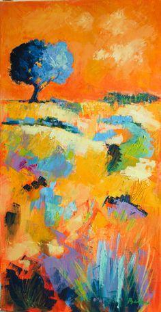 huile sur toile 80x40cm paysage orangé semi-abstrait #bleu #orange #peinture #huile #paysage #abstrait Buy Art, Bleu Orange, Saatchi Art, Original Art, Abstract Art, Canvas Art, Landscape, The Originals, Art Oil