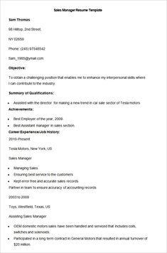 8 Best Sales Resume Images Sales Resume Resume Sales