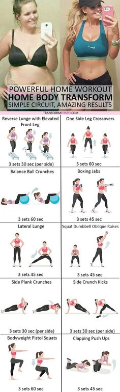 #womensworkout #workout #femalefitness Repin and share if this home workout transformed your body! Click the pin for the full workout.