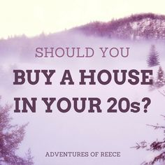 Should You Buy A House In Your 20s? http://wp.me/p5by2c-ck #firsthouse #property