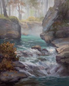 Johannes Vloothuis uses a variety of landscape painting examples to demonstrate how to effectively use a photo reference.