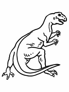 Teratosaurus Dinosaur Coloring Page From Misc Select 26388 Printable Crafts Of Cartoons Nature Animals Bible And Many More