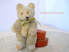 Old miniature teddy bear made by R. Diem in by ShabbyGoesLucky