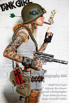 Classic Tank Girl images recreated in photography