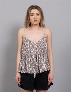 LONELY LOUNGE DRAWSTRING CAMI FLORAL-lonely-AREA 51