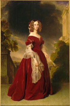 Franz Xaver Winterhalter  (1805-1873) —  Louise-Marie-Thérèse-Charlotte-Isabelle d'Orléans, reine des Belges, 1841: Сhâteaux de Versailles et de Trianon - Versailles, France (669×1016)