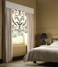 Window Treatment Ideas For Cathedral Ceilings and Pics of Window Treatments Ideas. Window Drapes, Blinds For Windows, Curtains With Blinds, Window Coverings, Windows And Doors, Valances, Shades Window, Window Cornices, Burlap Curtains