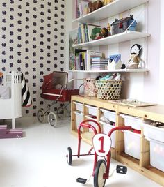 Beautiful wallpaper | Neat and tidy thanks to TROFAST | Pixie's bedroom | live from IKEA FAMILY