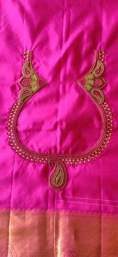 Choli Blouse Design, Silk Saree Blouse Designs, Kids Blouse Designs, Simple Blouse Designs, Saree Tassels, Dress Indian Style, Embroidery Fashion, Hand Embroidery Designs, Pakistani Outfits