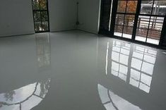 white epoxy floor