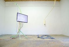 Beatriz Olabarrieta installation view of Diagonal Z Jeans, 2014 Parallel, Oaxaca. In collaboration with Museo Experimental El Eco, Mexico City
