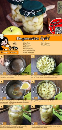 Eingemachte Äpfel Rezept mit Video – Kompott Rezepte Cook delicious canned apples with us! The canned apple recipe video is easy to find using the QR code 🙂 # Preserved apples # Apples Italian Pasta Recipes, Best Italian Recipes, Hungarian Recipes, Apple Recipes Video, Compote Recipe, Canned Apples, Dessert Drinks, Food For A Crowd, Other Recipes